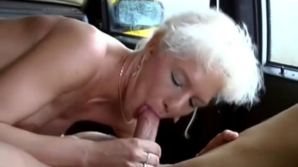 German Milf picked up for car sex