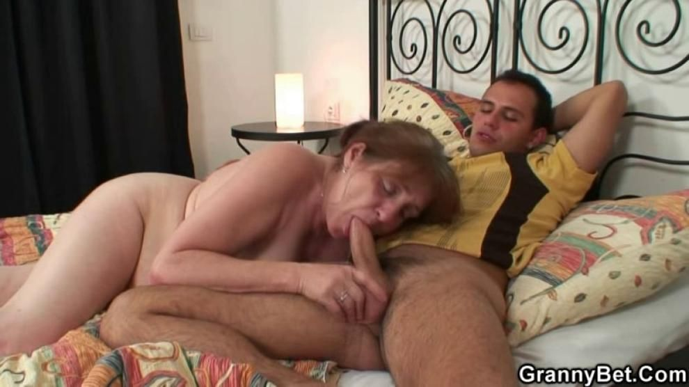 He heals old granny with his horny cock