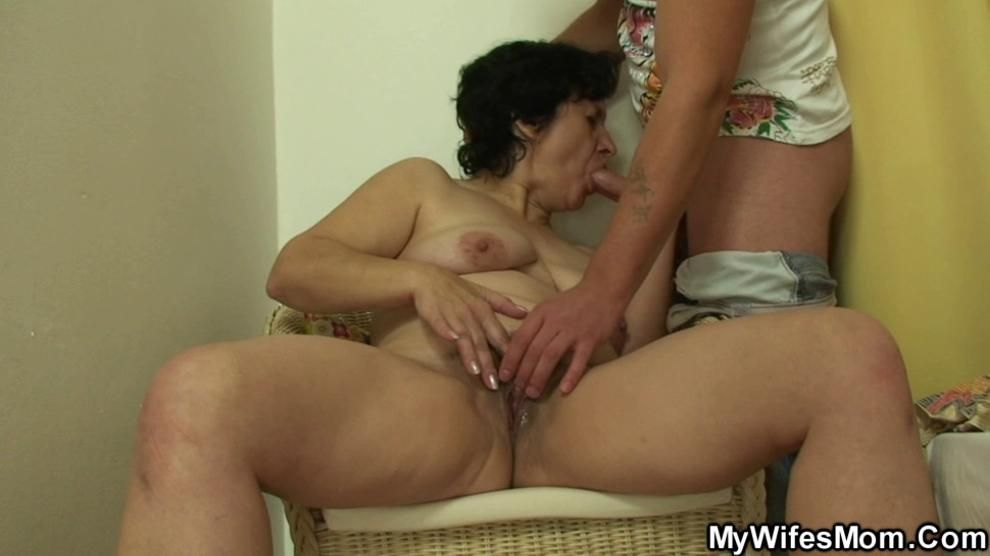 My wifes old mother sucks and rides